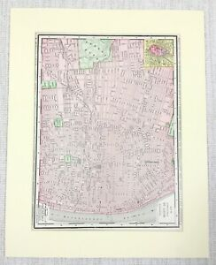 1901 Antique Map of St Louis City Street Plan Missouri United States of America