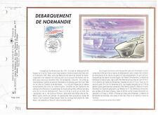 Feuillet CEF 1er Jour Soie 1994 Débarquement de Normandie  Y&T 2887