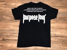 Justin Bieber Purpose Tour Official MERCH T-shirt Size ADULT Medium M Prevails