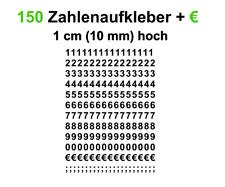 Aufkleber Zahlen Klebezahlen Zahlenaufkleber Verkaufszahlen € Auto KFZ Fenster
