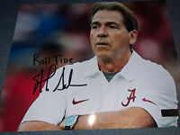 Alabama Crimson Tide Nick Saban Hand Signed Autographed 8x10 Picture COA