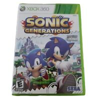 Sonic Generations (Microsoft Xbox 360, 2011) CASE AND MANUAL ONLY NO GAME DISC