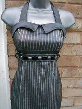 RINASCIMENTO ITALY ladies women grey silver party special occasion dress size 8