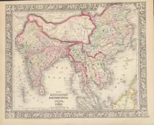 Antique Map Hindoostan, India, China, Tibet - Mitchell's New General Atlas 1860