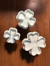 3Pcs Dogwood Flower Plunger Cookie Fondant Gum Paste Set