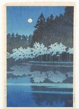 Japanese woodblock print, Hasui Kawase. Lot 461