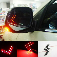2x 14SMD LED Arrow Panel Car Rear View Mirror Indicator Turn Signal Light Red