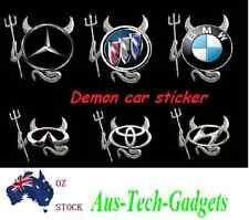 Brand new Silver 3D Demon car sticker cute