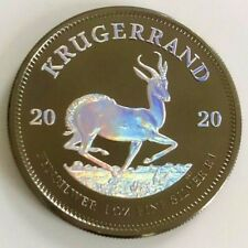 2020 1 oz .999 South African Krugerrand Holographic & Ruthenium  Silver Coin