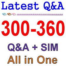 Cisco Best Practice Material For 300-360 Exam QA PDF+SIM