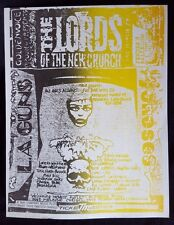 LORDS OF THE NEW CHURCH/LA GUNS Original Concert Flyer '86 DEAD BOYS DAMNED Goth