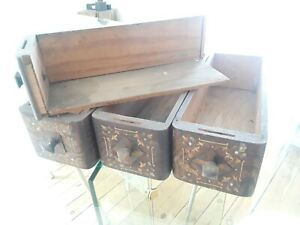 ANTIQUE MINNESOTA TREADLE SEWING MACHINE DRAWERS (Q389)p3