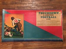 RARE Vintage 1934 Cadaco TOUCHDOWN A SCIENTIFIC FOOTBALL GAME Early Board Game