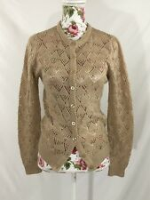 Cyn Les Vintage Cardigan Made In Taiwan Shirlee Designs Crochet Knit Size M