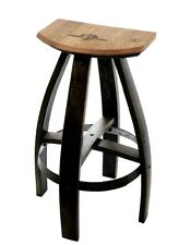 Industrial Style Wood And Metal Kitchen Bar Stools