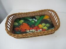 Korb-Tablett, Korbgeflecht - Motiv Gemüse