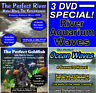 3 DVD SET The Perfect River, Ocean Waves, Goldfish Aquarium Ambient WATER Videos