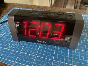 timex alarm clock radio big numbers aux in