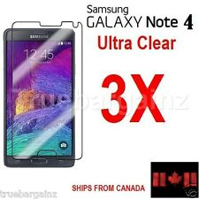 3X Ultra Clear Screen Protector for Samsung Galaxy Note 4 - SM-N910W8