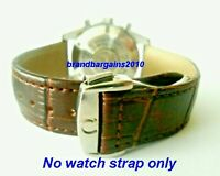 20MM BROWN LEATHER STRAP & CLASP for 42mm OMEGA SPEEDMASTER MOONWATCH Pro