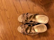 Aerosoles Protector Sandals Beige/Gold Women Shoes Size 7