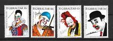 Gibraltar 2002 Europa Circus Famous Clowns Sg1002-1005  MNH/UMM