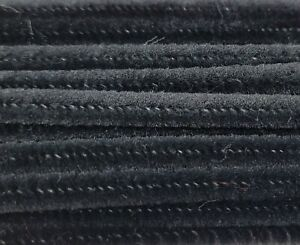"Lot of 100 Black 12"" Long x 1/4"" 6mm Wired Pipe Cleaners Craft Chenille Stems"