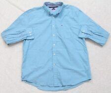 Tommy Hilfiger Dress Shirt XL Classic Fit Button Up Long Sleeve Blue Polka Dots
