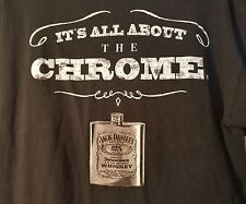 "JACK DANIELS Whiskey Old No. 7 Brand ""IT'S ALL ABOUT THE CHROME"" Size XL Shirt"