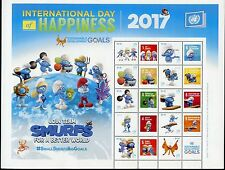 UNITED NATIONS 2017 INTERNATIONAL DAY OF HAPPINESS SMURF NY PERSONALIZED SHT