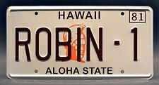 Magnum PI / Ferarri / Tom Selleck / ROBIN-1 *STAMPED* Prop Replica License Plate