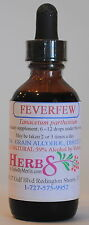 Herbs by Merlin FEVERFEW (Fever, Anti-inflamatory ) TINCTURE Organic  2 Fluid Oz