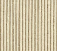 "NEW Gathered 18"" French Country Ticking Stripe Linen Beige King Bedskirt Cotton"