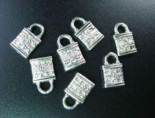 40pcs Tibetan Silver Ornate Padlock Charms R90