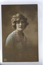 (L48) Real Photo of Glamour Girl / Birthday Wishes    1915 - Used