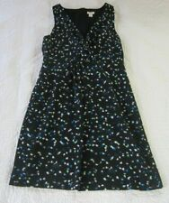 J. Crew Womens Dress Size 6 Wrap Front Painted Dots Navy Blue/ Green/White
