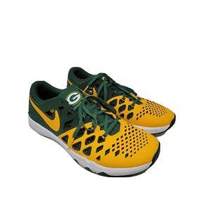 Nike Train Speed 4 AMP NFL Green Bay Packers Shoes US 10.5 EU 44.5 848587-706