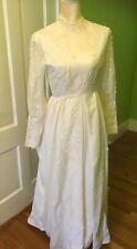 Handmade Vintage Mid Century Wedding Dress. 1950s Lace. Victorian Style. Flowers