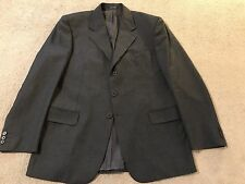 ERMENEGILDO ZEGNA Tessuto Men's Grey 100% Wool Double Vent Sport Coat Blazer 42R