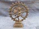 Vintage Solid Brass Hindu Tribal Dancing God Shiva Natraj 5 5  Statue Figurine