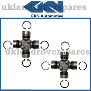 RANGE ROVER P38 PROPSHAFT UJ UNIVERSAL JOINTS PAIR - GKN JOINTS - NEW