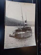 ORIG PHOTOGRAPHIC VINTAGE WW1 LISA  SINKING ?  SHIPWRECK  110 X 75 mm HMS LUPIN
