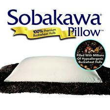 Sobakawa Pillow, Queen Size Natural Buckwheat Pillow with Cooling Technology, As