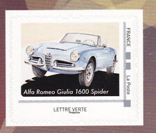 FRANCE 2019 Italian Luxury cars adhesive Alpha Romeo Giulia 1600 Spider MNH **