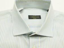 CORNELIANI ITALY Stripe Woven Long Sleeve Shirt 17 - 35