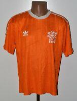 HOLLAND NATIONAL TEAM 1985/1986 HOME FOOTBALL SHIRT JERSEY ADIDAS SIZE XL ADULT