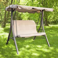 Garden Outdoor Patio Porch Swing Hammock Chair w/ Canopy Yard Furniture Loveseat