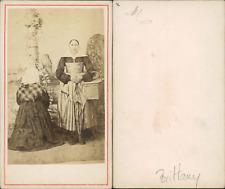 Bretonnes au calvaire Vintage CDV albumen carte de visite  CDV, tirage album