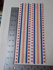 SRM RED BLUE YELLOW BORDERS CHECKS STICKERS SCRAPBOOKING NEW A2771