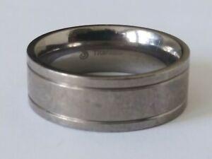 Mens Titanium Ring Engagement Wedding Band Size 6.5